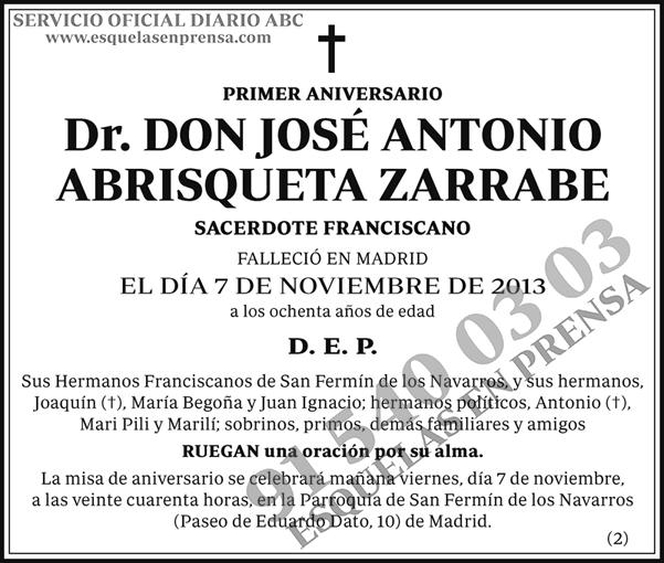 José Antonio Abrisqueta Zarrabe
